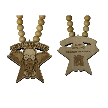 SHOWTIME NECKLACE - WOOD FELLAS FOR THE SIMPSONS - collana in legno - www.baddaclothes.com