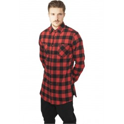 Side-Zip Long Checked Flanell Shirt - Camicia Lunga con zip