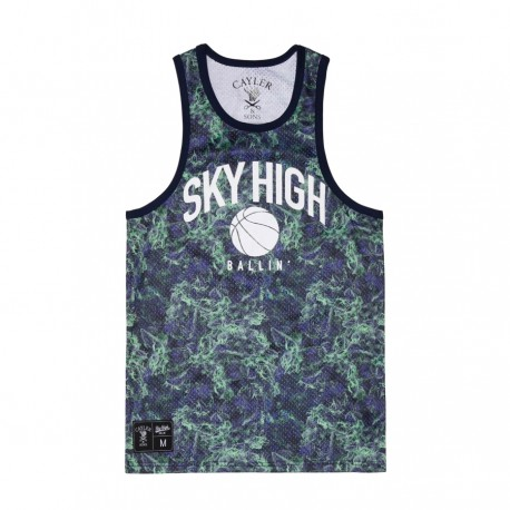 C&S Sky High Bball Jersey green