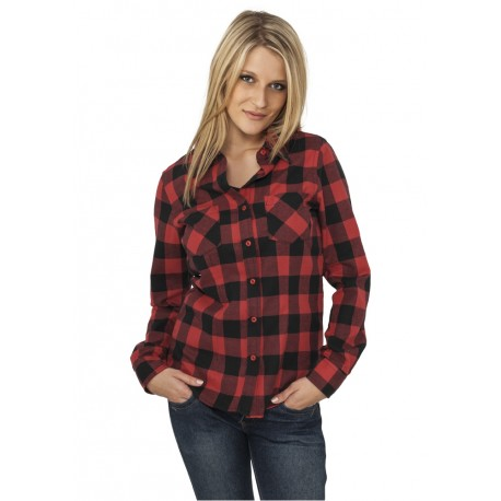 URBAN CLASSICS LADIES CHECKED FLANELL SHIRT - camicia di flanella