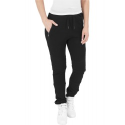 Ladies Melange Biker Sweatpants - Urban Classics
