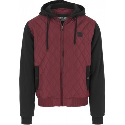 Hooded Diamond Quilt Nylon Jacket - Urban Classics