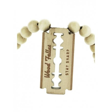 Wood Fellas Razor Blade necklace - Collana in legno