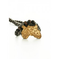 Wood Fellas Africa Lion necklace - Collana in legno