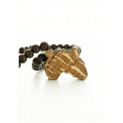 Wood Fellas Africa Unity necklace