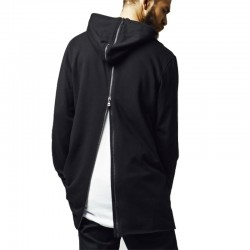 Long Shaped Back Zipped Hoodie