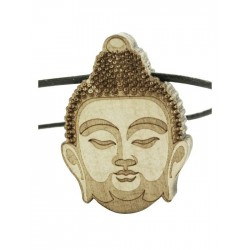 Wood Fellas Thai Buddha Leather Necklace - Collana in legno