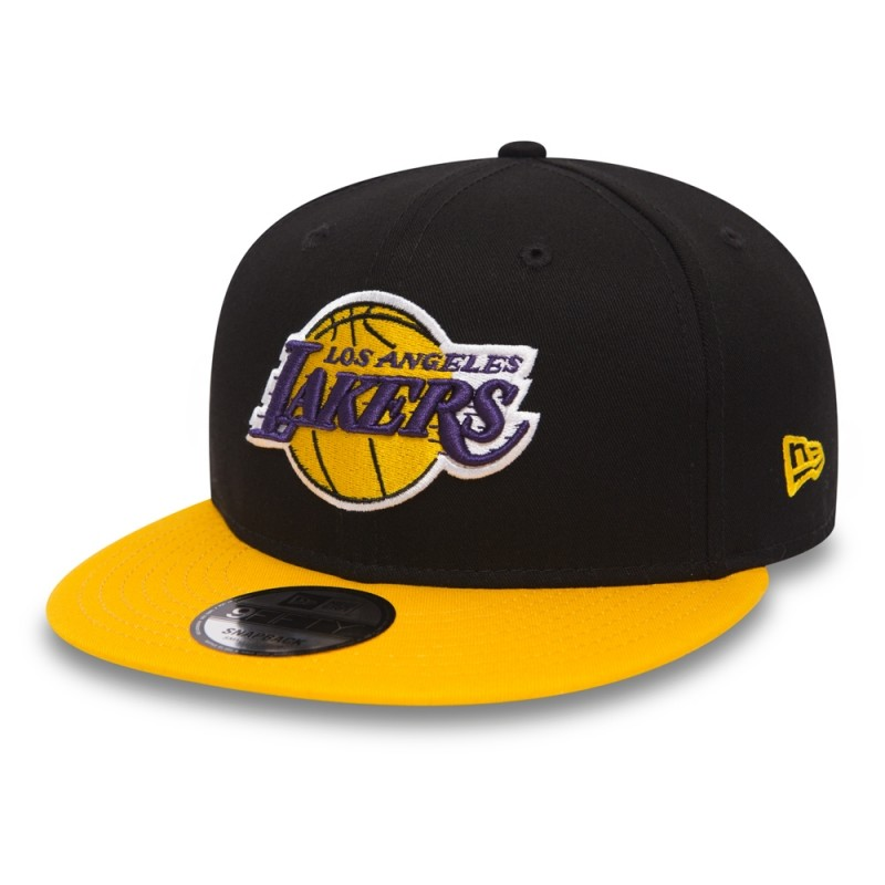 80eb8553c85 Los Angeles Lakers Black Base 9FIFTY Kappe Snapback - BaddaClothes