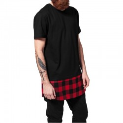 Long Shaped Flanell Bottom Tee