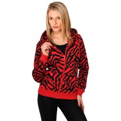 Ladies Zebra Ziphoody
