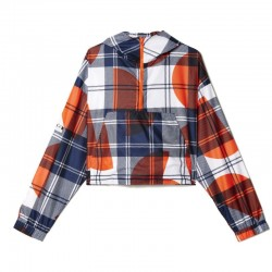adidas STELLASPORT Checked Windbreaker