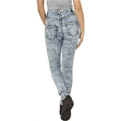 Ladies High Waist Denim Skinny Pants - Urban Classics