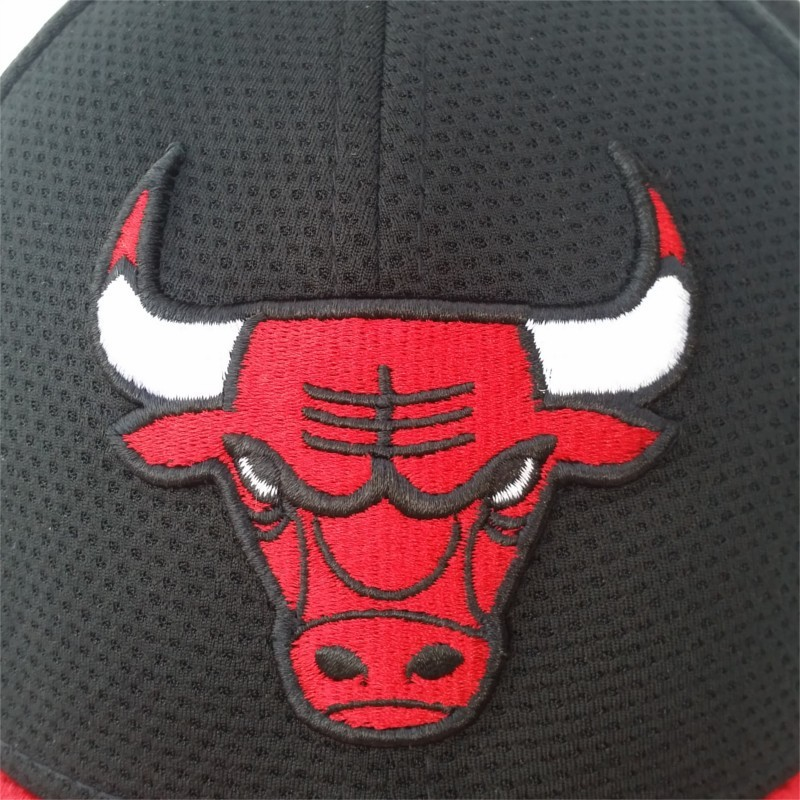 ac2f93cd991 New Era Chicago Bulls Team Mesh 9Forty snapback hat - BaddaClothes