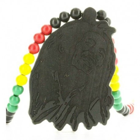 Wood Fellas Bob Rasta Necklace - Collana in legno
