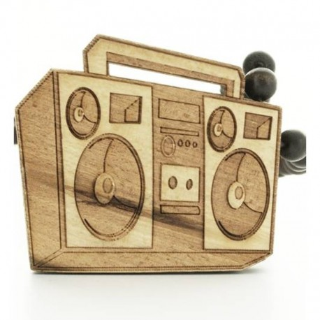 Wood Fellas Boombox Necklace