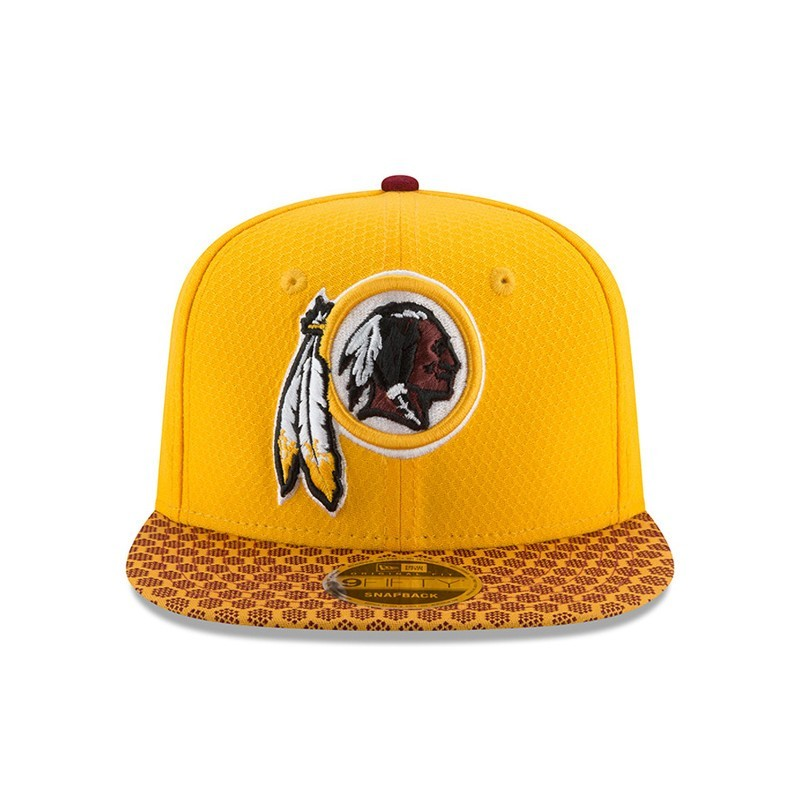 0f8383565cb367 New Era Washington Redskins Sideline 950 Gold Snapback - BaddaClothes