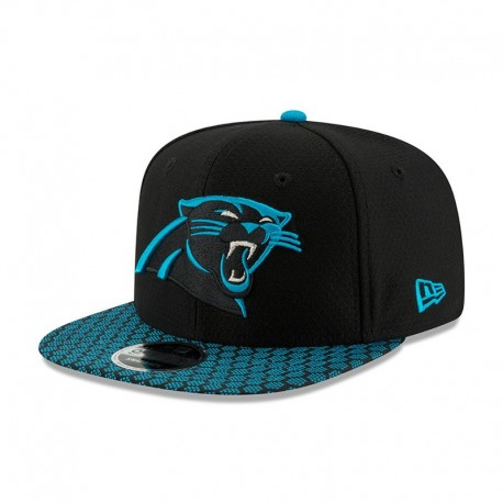 New Era Carolina Panthers Sideline 9FIFTY Black Snapback NFL