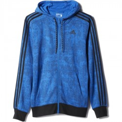 Adidas Essentials 3-Stripes Allover Print Hoodie
