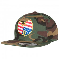Wu-Wear USA Camo Snapback