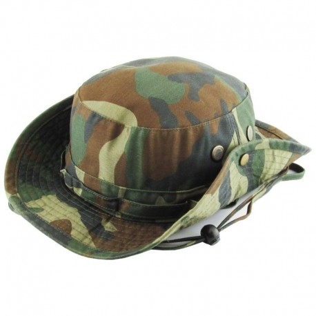 Safari Wood Bucket Hat with strings