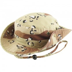 Safari Desert Camo Bucket Hat with strings