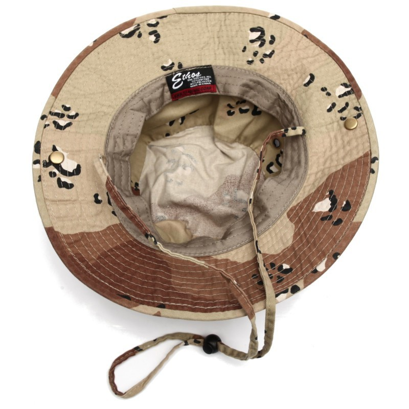 58a12c57 Safari Desert Camo Bucket Hat with strings - BaddaClothes