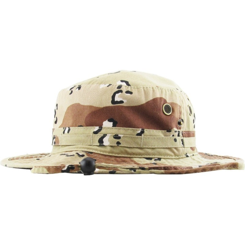 56f64818b Safari Desert Camo Bucket Hat with strings - BaddaClothes