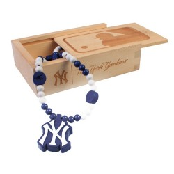 Wood Fellas - Collar de madera de los New York Yankees