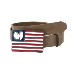 Wu-Wear Flag Leather Belt