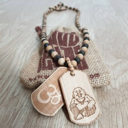 Wood Fellas Om Buddah Necklace