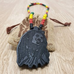 Wood Fellas Bob Rasta Necklace