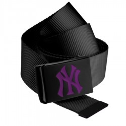 MLB NY Yankees Canvas Belt Purple